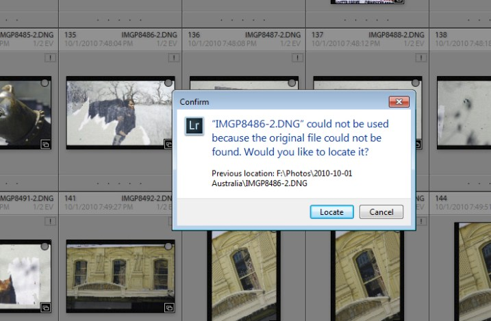 how to resolve issues where you changed files outside Lightroom
