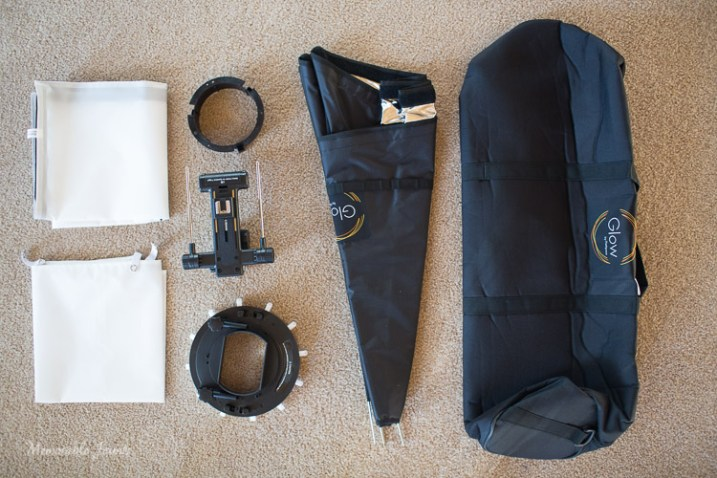 Memorable Jaunts Glow QuadraPro Softbox Article Image Whats in the bag-1
