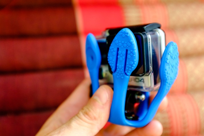 the miggo splat protecting a gopro lens