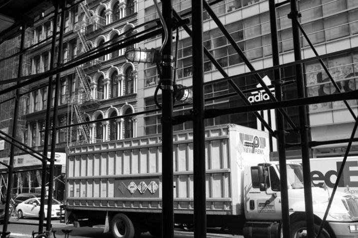 Scaffolding, Broadway, NYC.