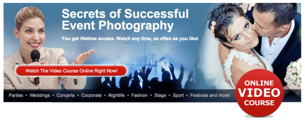 Today Only: 54% OFF Phil Steele's Event Photography Course