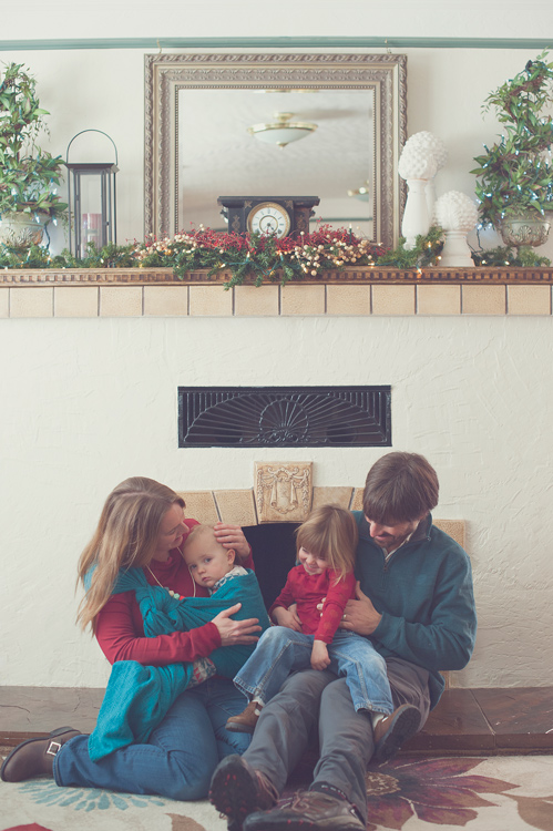 family sitting together indoor photoshoot locations