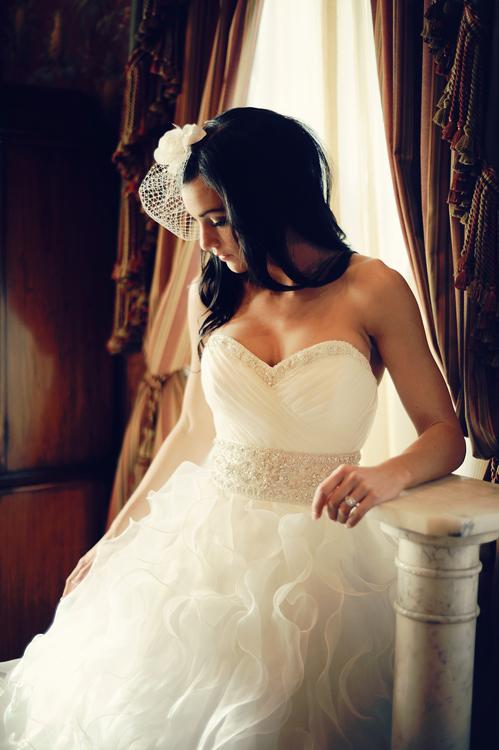 bride posing indoors