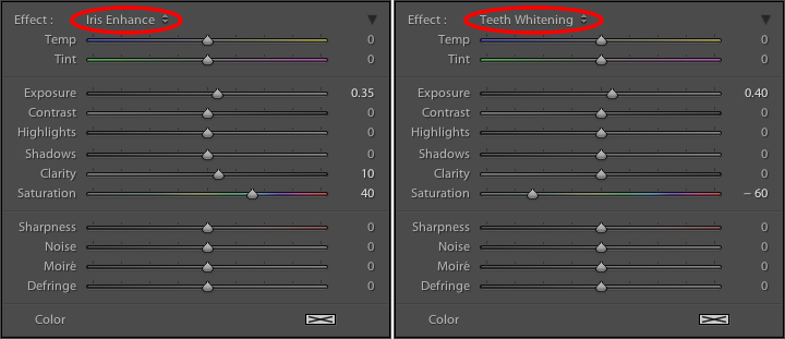 These presets don't inherently do anything special, they just adjust various sliders in different ways.