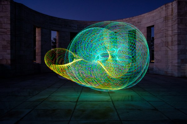 How to Create Beautiful Light Painting Images With an Illuminated Hoop