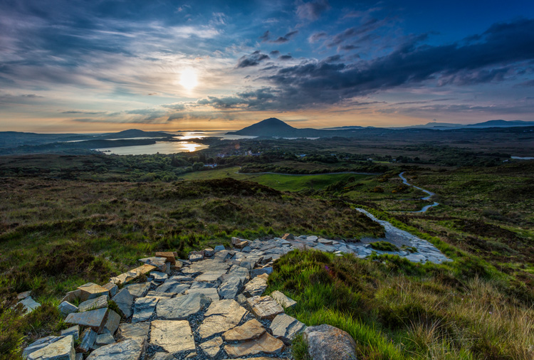 Connemara deep landscape