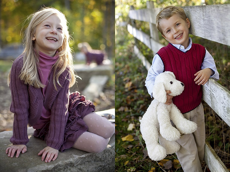 using a reflector child portraits