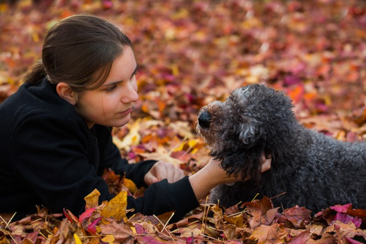 photographing nature in your backyard portrait with dog