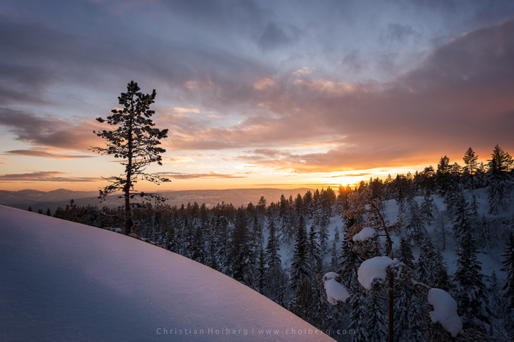 An unexpected sunset this winter in Norway