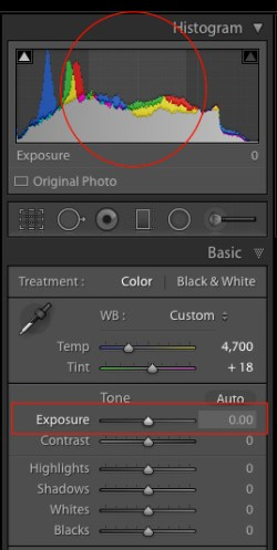 Exposure-slider