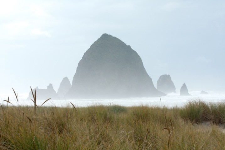 A different mood of Cannon Beach, Oregon.