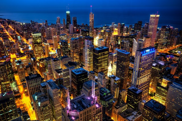 Chicago from the Willis Tower (formerly known as the Sears Tower)