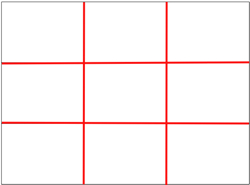 The rule of thirds gridlines