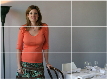 The rule of thirds portrait of a woman