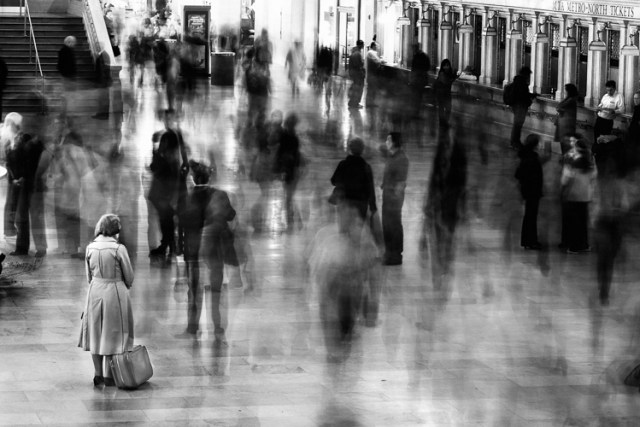 Waiting in Grand Central Terminal, New York