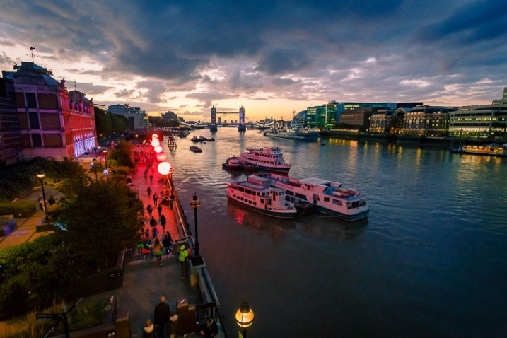Inspire Your Creativity London at night