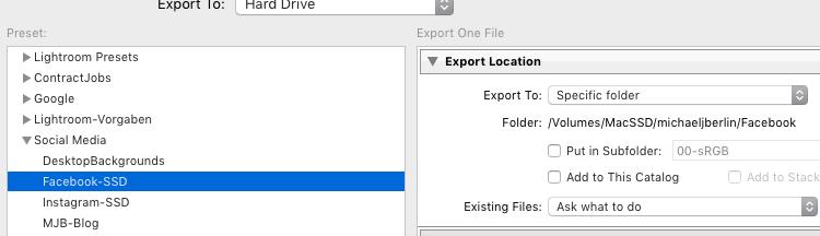 Lightroom Export 09 Use Export Preset