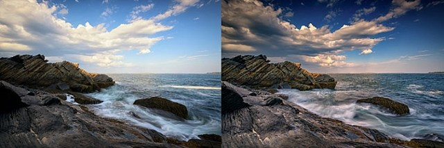 Using filters - graduated neutral density filters for a better sky.