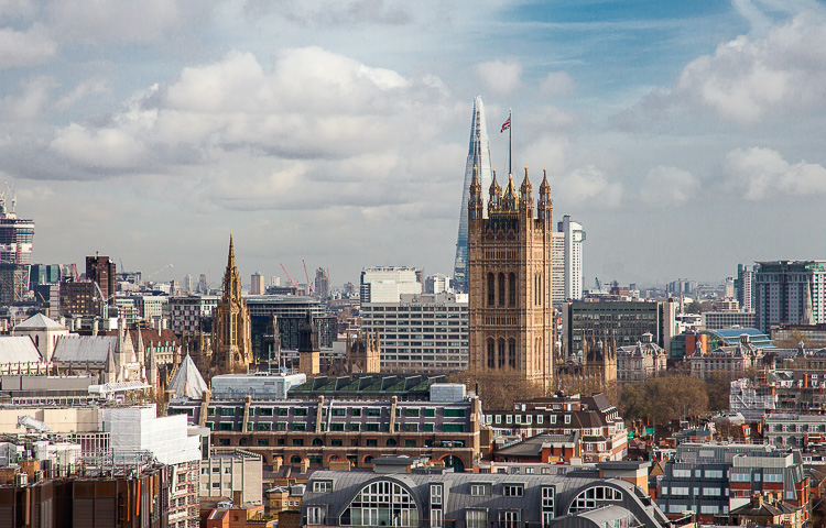 London from the tower of Westminster Cathedral
