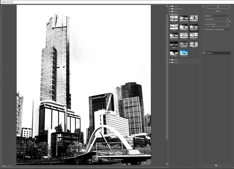 How to Make a Sketch inside a Photograph - sketch filter
