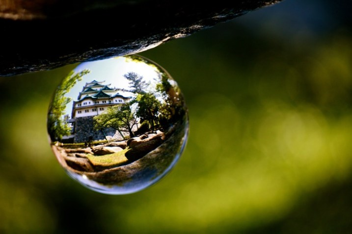 Doing Crystal Ball Refraction Photography - house inside glass ball