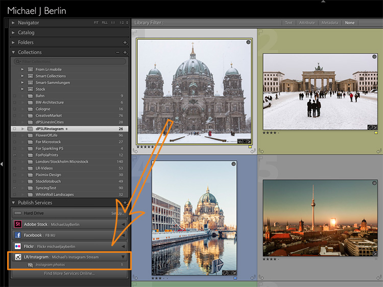 Drag and drop images in Lightroom