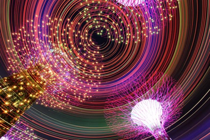 Как сделать световую роспись вращением камеры