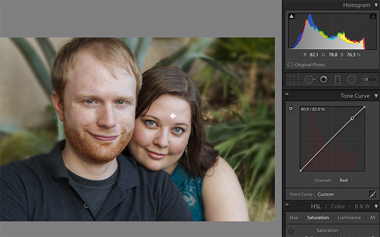 Skin tones Lightroom curves 10