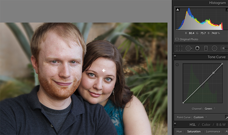 Skin tones Lightroom curves 11