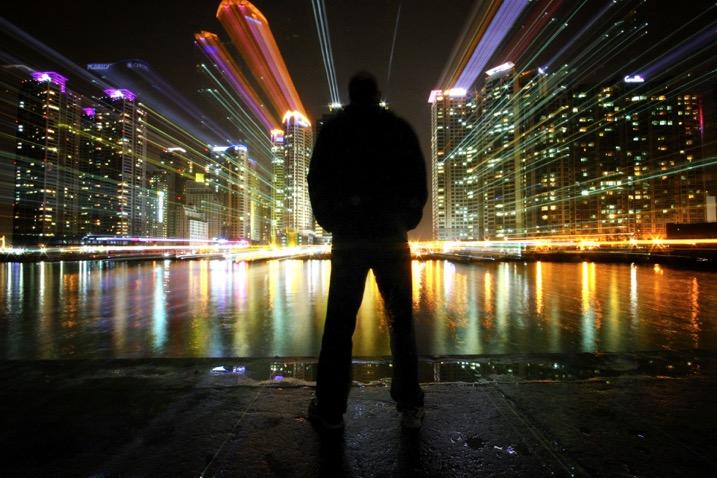 zoom burst photo cityscape
