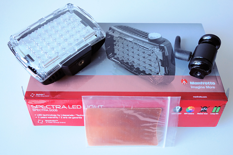 Manfrotto Spectra LED 500s in the box