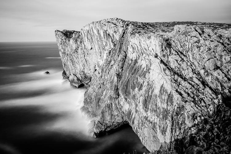 Black & white infrared landscape photograph