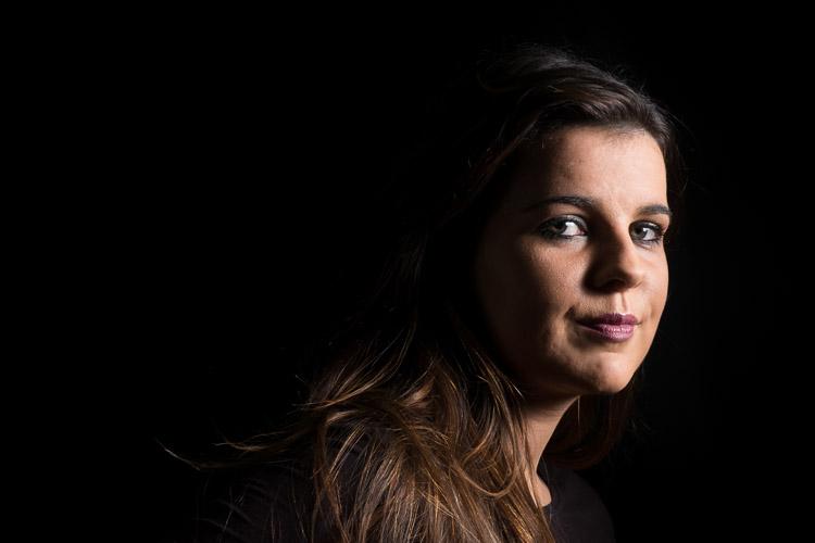 Low key portrait of a woman