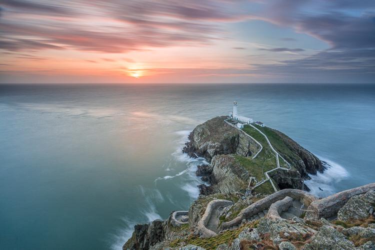 beautiful lighthouse at sunset