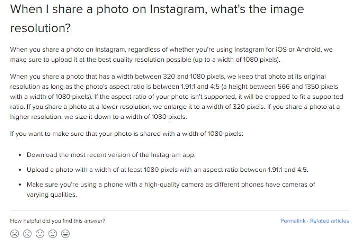 Instagram Photo Sizing social media
