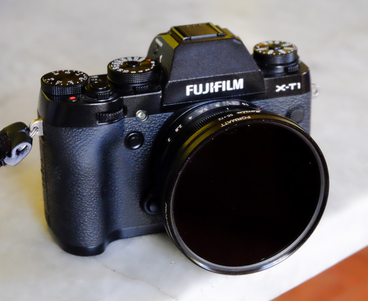 camera with neutral density filter