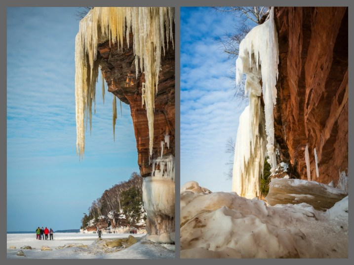 How to Plan a DIY Photography Retreat - winter, ice, snow, cliff, Lake Superior, clouds, blue, sky, Wisconsin, retreat, Apostle Islands National Lake Shore