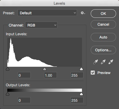 Image result for levels tool photoshop""