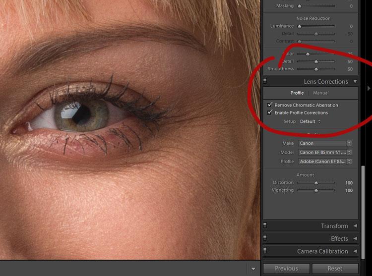 Portrait Post-Processing Workflow Tips - lens corrections
