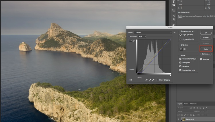 Auto Curves - How to Understand Curves in Photoshop