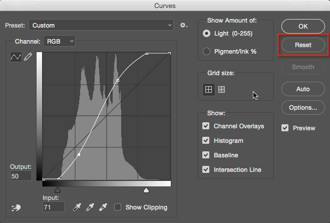 reset tools in photoshop how to understand the curves tool