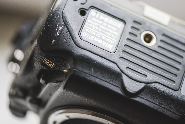 Inspect external body used camera gear