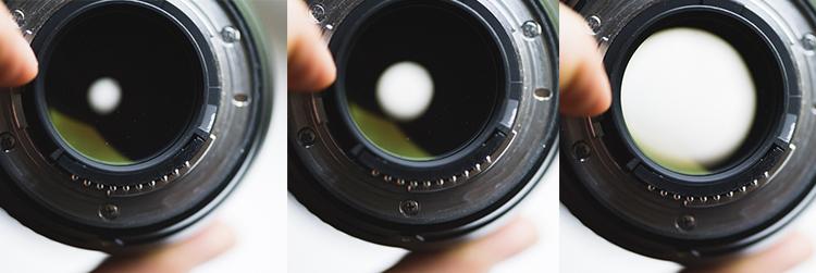 Open aperture lens used camera gear
