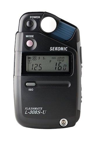 Image: Handheld light meter for incident light metering (light falling on the subject).