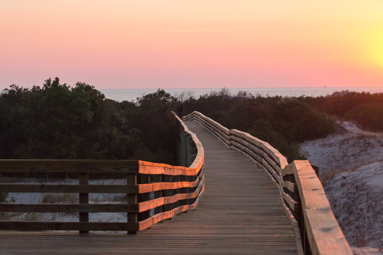 Low Impact Nature Photography - Cumberland island boardwalk over dunes