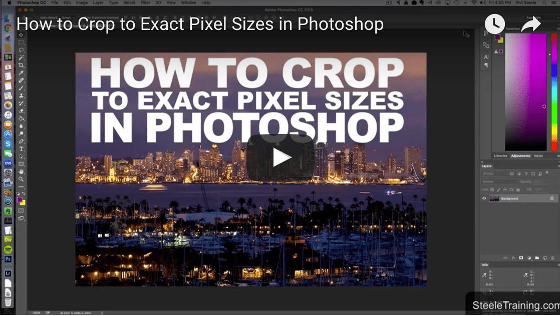 How to crop to exact pixel size using photoshop with phil steele ccuart Gallery