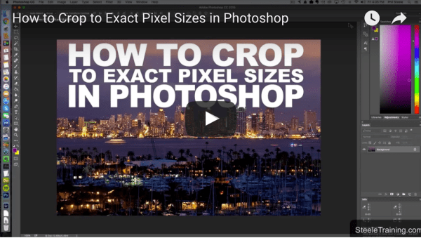 How to Crop to Exact Pixel Size Using Photoshop – with Phil Steele
