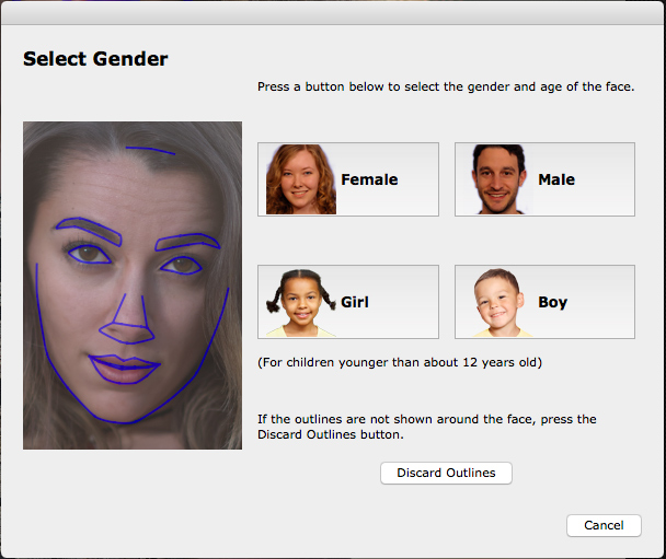 Gender Selection in PortraitPro 15