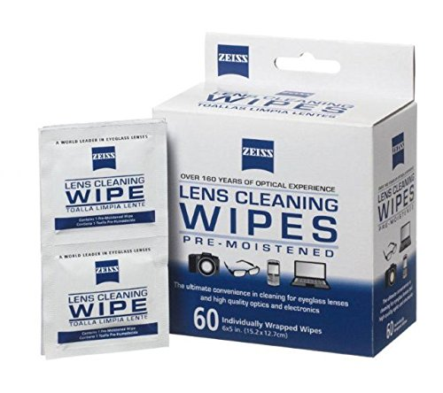 Image: Zeiss lens cleaning wipes.