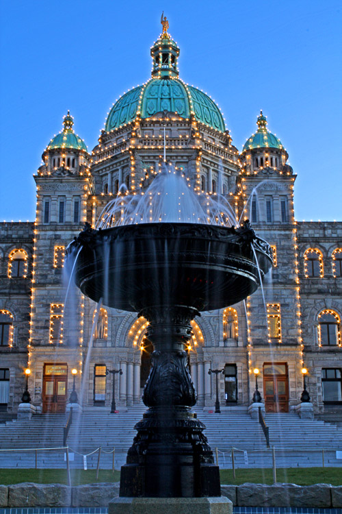 Legislature in Victoria, British Columbia by Anne McKinnell - How to Compose Photos with Impact Using Elements of Design